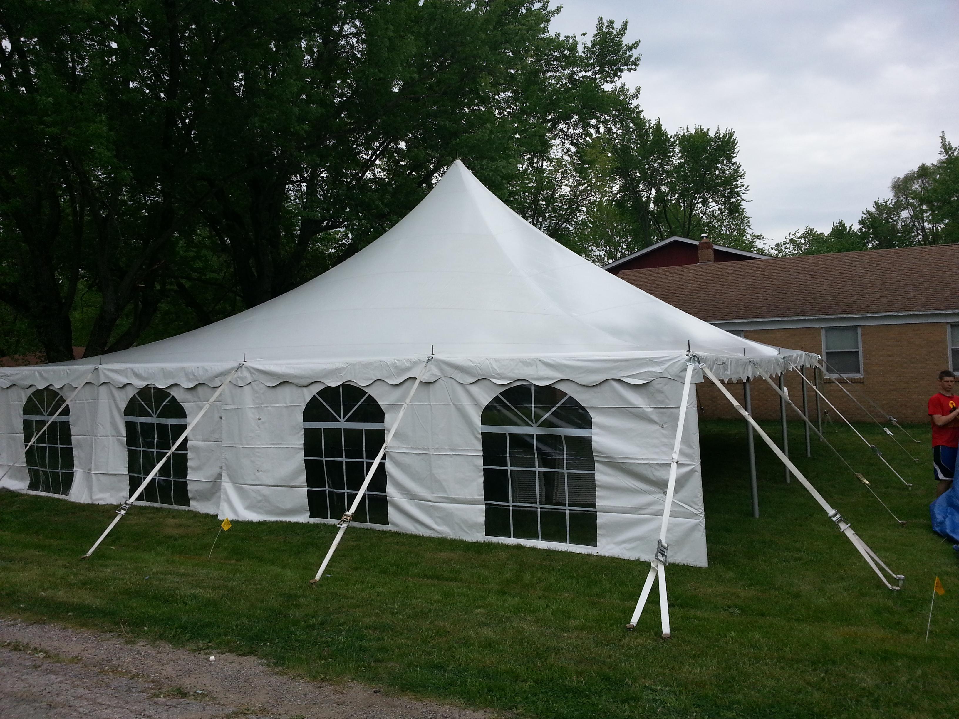 40x40 white century pole tent