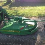 "JOHN DEERE TRACTOR WITH 60"" BRUSH HOG"