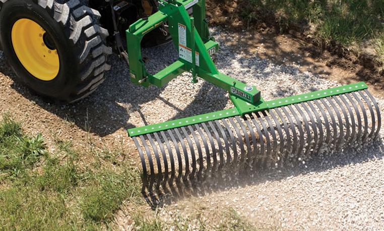 John Deere Tractor With York Rake Michiana Tool And