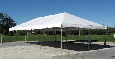 20x40 Fiesta Frame Tent White Top
