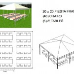 20X20 FRAME TENT SEATS 48