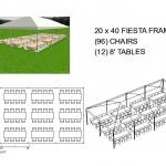 20X40 FRAME TENT SEATS 96