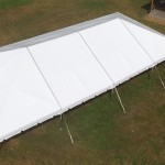 40X80 WHITE WEDDING FRAME TENT SEATS 192