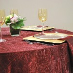 CRUSH TABLECLOTHS ALL COLORS