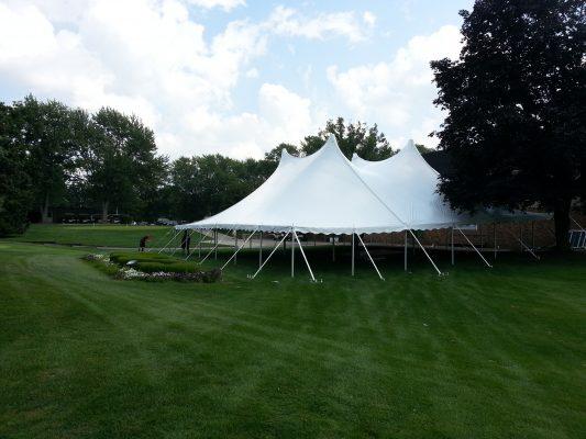 60x60 White Century Pole Tent