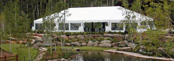40x60 White Wedding Frame Tent Seats 152 Michiana Tool