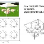 20X20 FRAME TENT SEATS 32