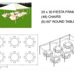 20X30 FRAME TENT SEATS 48