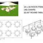 20X30 FRAME TENT SEATS 48