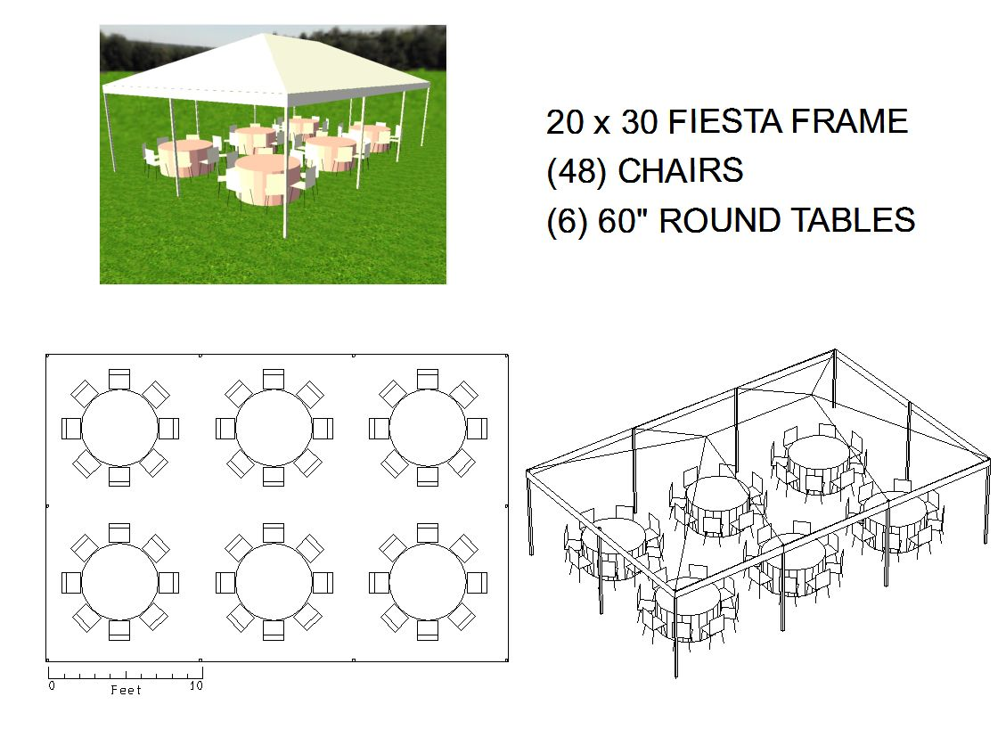 20x30 frame tent seats 48 michiana tool and party rental. Black Bedroom Furniture Sets. Home Design Ideas