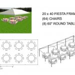 20X40 FRAME TENT SEATS 64