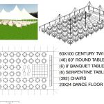 60X100 WHITE WEDDING POLE TENT SEATS 392