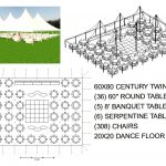 60X80 WHITE WEDDING POLE TENT SEATS 308