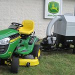 TRAC VAC WITH RIDING MOWER